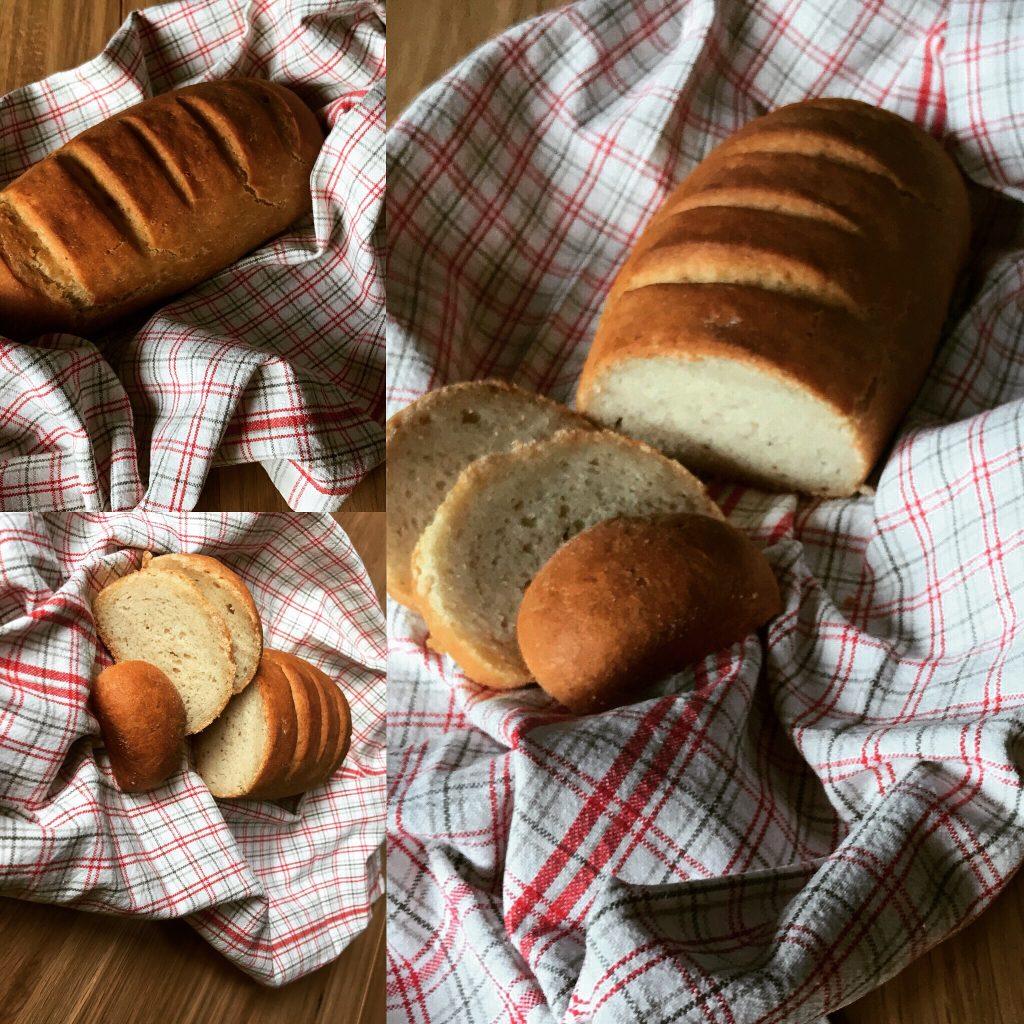 Tris di foto filone pane senza glutine