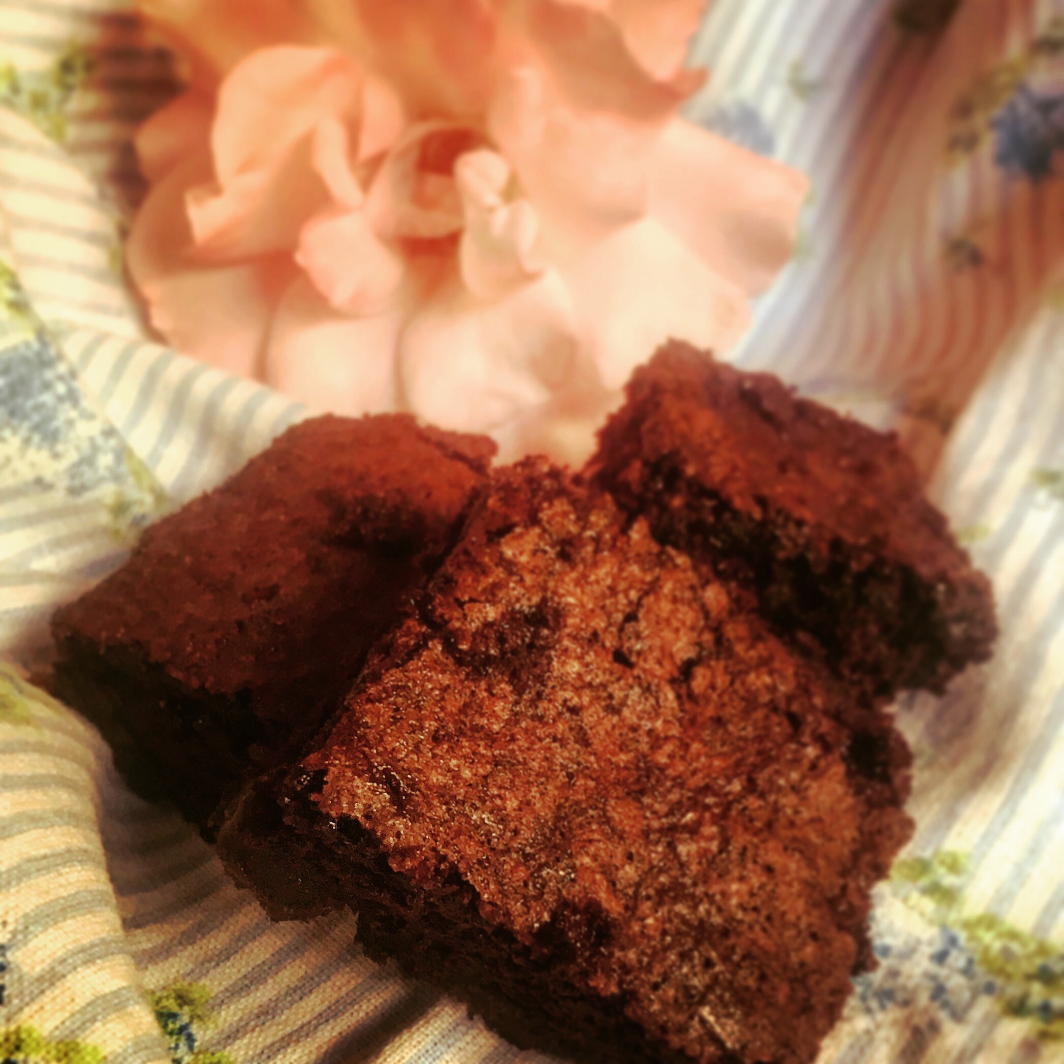 Brownies con rosa