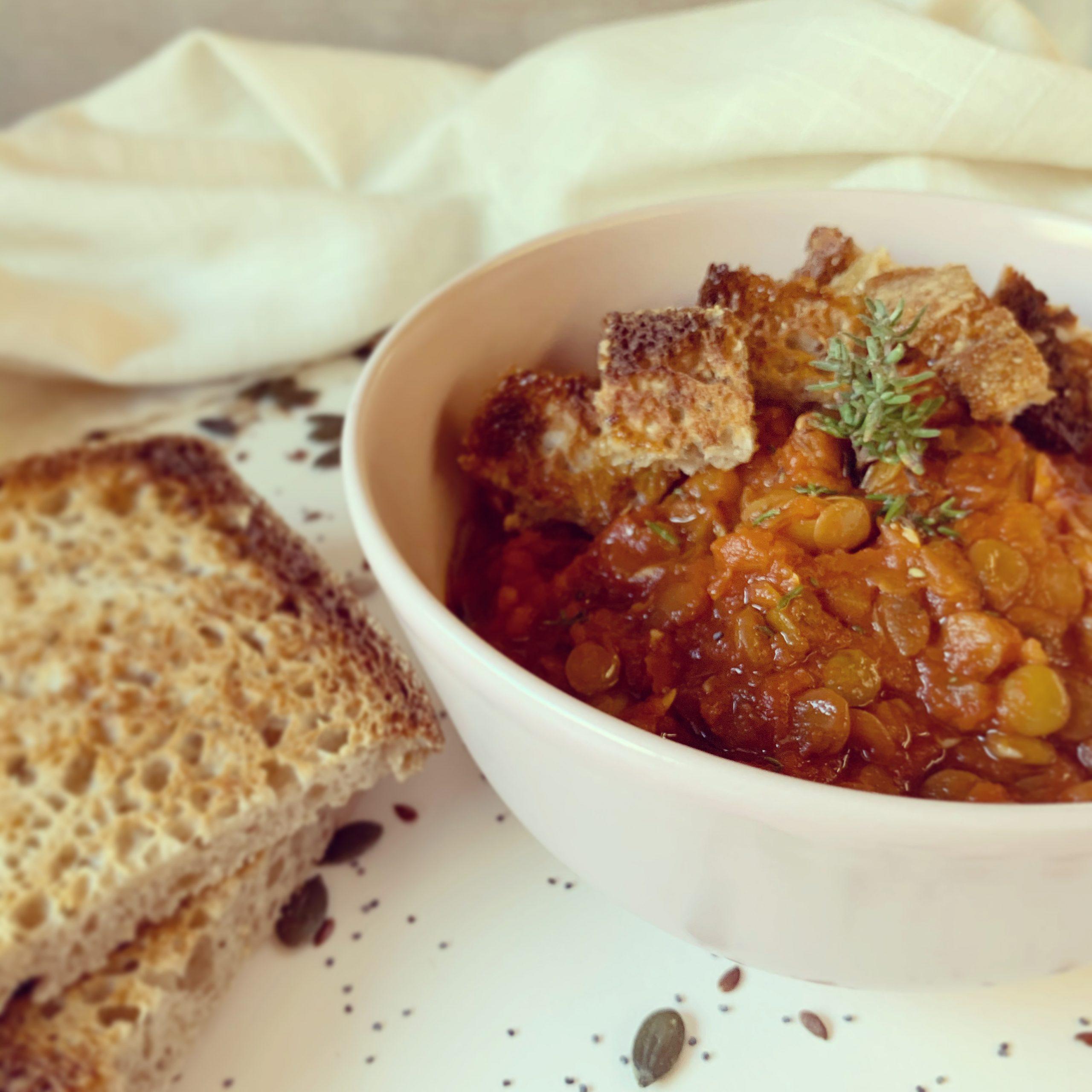 Zuppa di lenticchie al timo